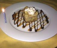 Cake birthday  Bread pudding Stock Photography