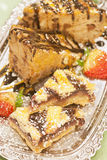 Bread Pudding with Choc Chips and almond bar  Royalty Free Stock Images