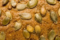 Bread with pumpkin seeds Stock Photo