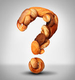 Bread Question Royalty Free Stock Photos