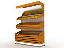 Bread rack with bread loaf �2 Royalty Free Stock Photography