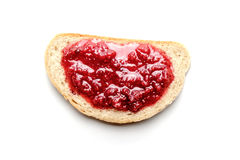 Bread and raspberry jam Royalty Free Stock Photography