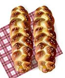 Bread realistic Vector. Tasty baked goods on gingham pattern. detailed 3d illustrations vector illustration