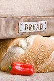Bread and Red Pepper Stock Images