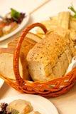 Bread in restaurant Stock Photo