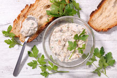 Bread with rillettes Royalty Free Stock Photo