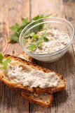 Bread with rillettes Stock Photography