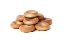 Bread rings isolated Stock Images