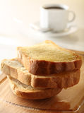 Bread roasted for breakfast Stock Photography