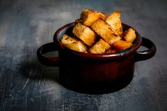 Bread roasted crouton Royalty Free Stock Image