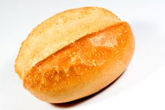 Bread roll. Fresh bread roll on a white background Royalty Free Stock Photo