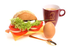 Bread roll for breakfast stock images