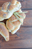 Bread roll and bun from small bakery Stock Photos