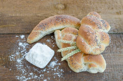Bread roll and bun from small bakery Stock Photography