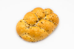Bread roll with caraway seeds and salt Royalty Free Stock Photography