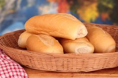 Bread roll hot dog bun Royalty Free Stock Photos