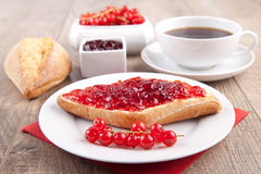 Bread roll with jam Stock Photo