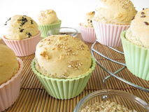 Bread roll muffins Stock Photos
