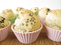 Bread roll muffins Stock Images