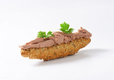 Bread roll with pate Stock Image