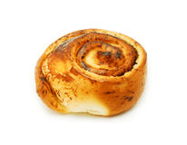 Bread roll with poppy seeds Royalty Free Stock Image