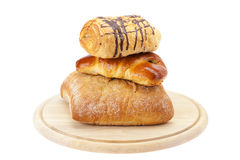 Bread, Roll with poppy seeds Royalty Free Stock Photography