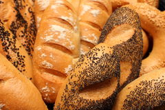 Bread roll with poppy seeds Royalty Free Stock Photos