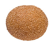 Bread roll with sesame seeds Royalty Free Stock Image