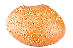 Bread, roll strewed by a sesame Royalty Free Stock Photography
