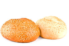 Bread, roll strewed by a sesame Stock Photography