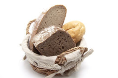 Bread with roll well for breakfast Stock Images