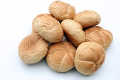 Bread rolls. On the white background Royalty Free Stock Images