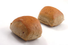 Bread rolls. On white background Royalty Free Stock Image