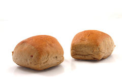 Bread rolls. On white background Royalty Free Stock Photography