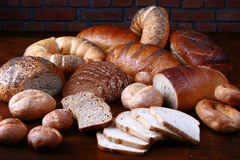 Bread and rolls. Photo of breads and rolls Stock Image