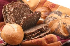 Bread and rolls Stock Photos