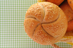 Bread rolls background(vintage look) Stock Photo