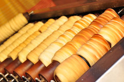 Bread rolls baking in Prague Royalty Free Stock Image