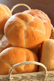 Bread rolls in basket Royalty Free Stock Images