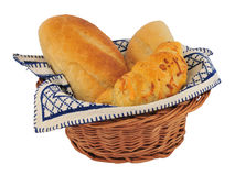 Bread rolls in basket Stock Image