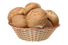 Bread Rolls in Basket Royalty Free Stock Photo