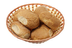 Bread Rolls in Basket Royalty Free Stock Photography
