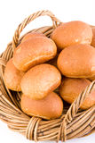 Bread Rolls in Basket Stock Photo