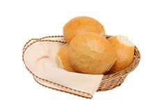 Bread rolls in a basket Stock Photos