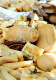 Bread rolls on a buffet table Royalty Free Stock Photography