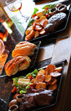Bread Rolls / buns - meal / dinner / lunch Stock Image