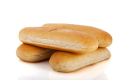 Bread rolls for hotdogs Royalty Free Stock Image