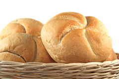 Bread rolls isolated Stock Photo
