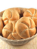 Bread rolls isolated Royalty Free Stock Photography