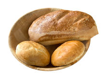 Bread rolls and loaf Stock Photos